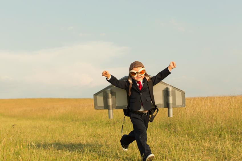 Child running.