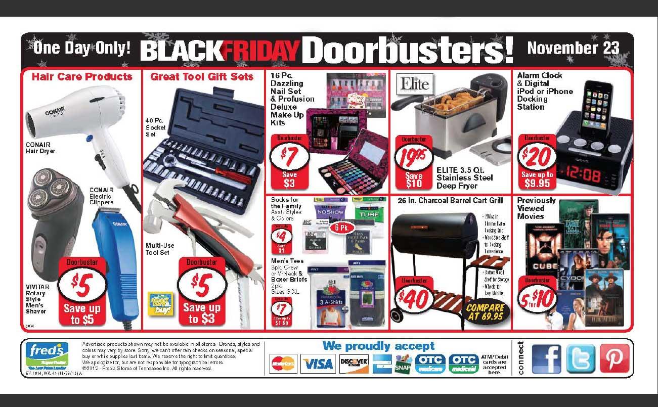 Black Friday Ad Leak: Fred's Super Dollar NerdWallet Shopping #AF1C28