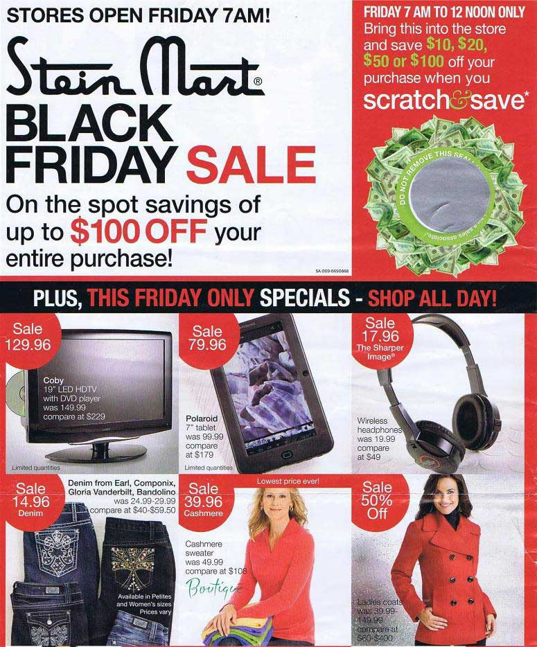 the stein mart 2012 black friday ad scan arrives
