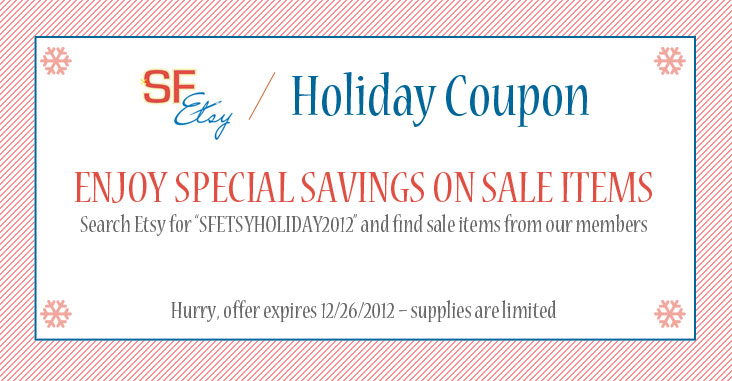SF Etsy Holiday Coupon