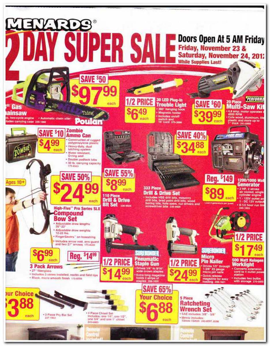 Check out Menards Weekly Ad & Deals. Find this week Menards Ad sale, digital coupons, current flyer prices, 11% rebate sales, and the latest specials.