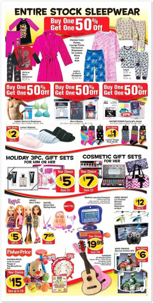 Fred's Super Dollar Black Friday Ad Scan - Page 3