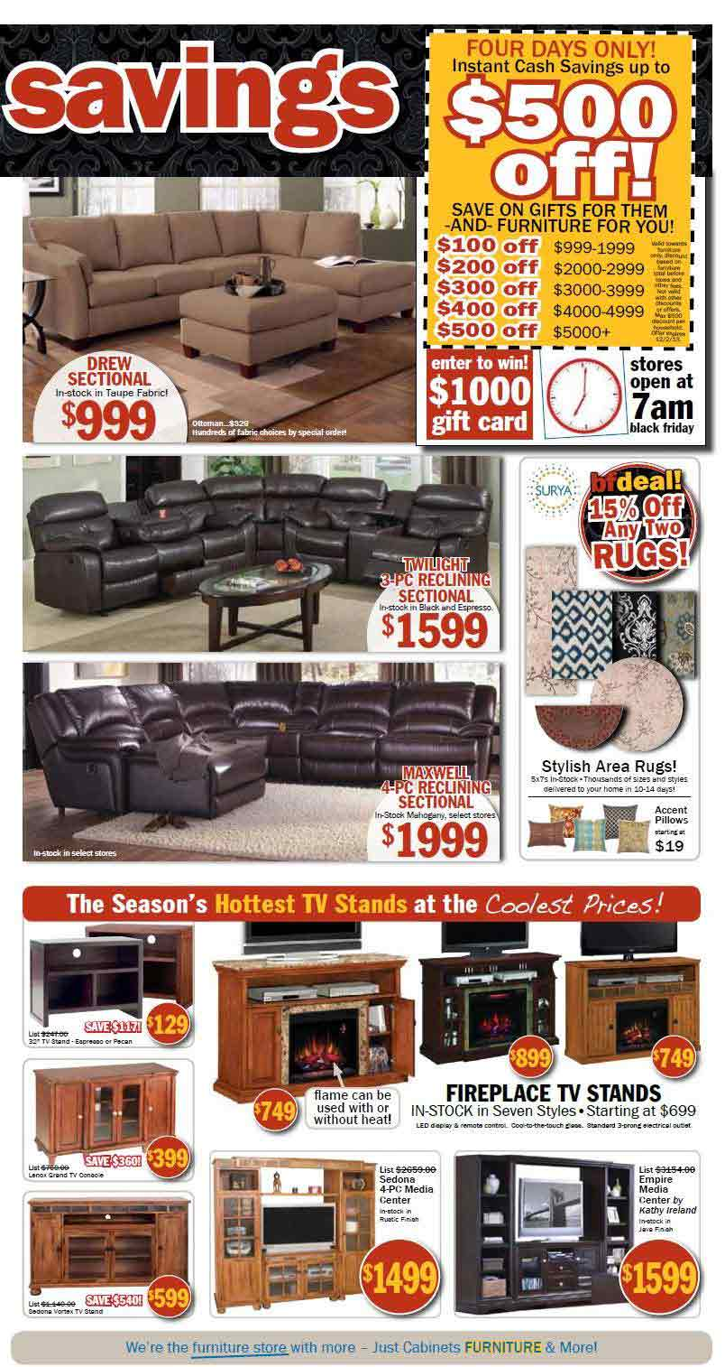 Just cabinets furniture black friday 2013 ad find the for Furniture black friday