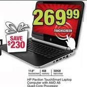 Office Depot HP Pavilion 11-6'' TouchSmart Laptop w AMD A6 Quad-Core ...