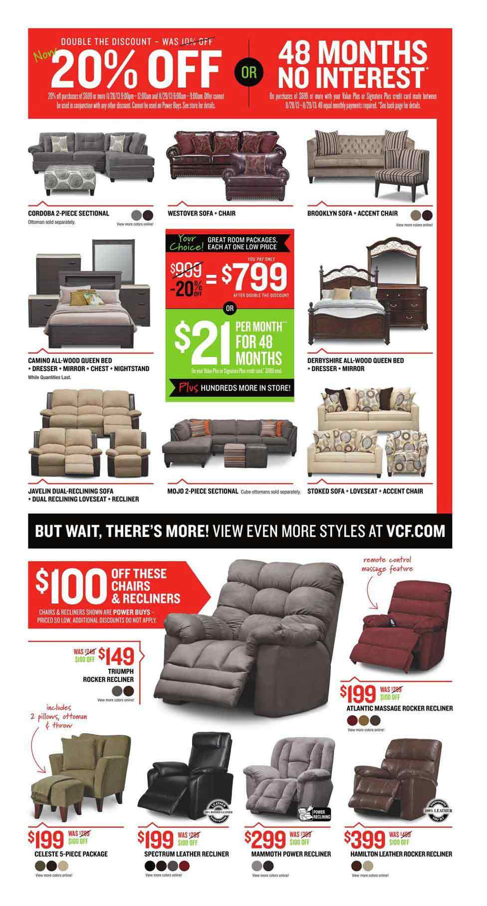 Value city black friday 2013 ad find the best value city for Furniture black friday