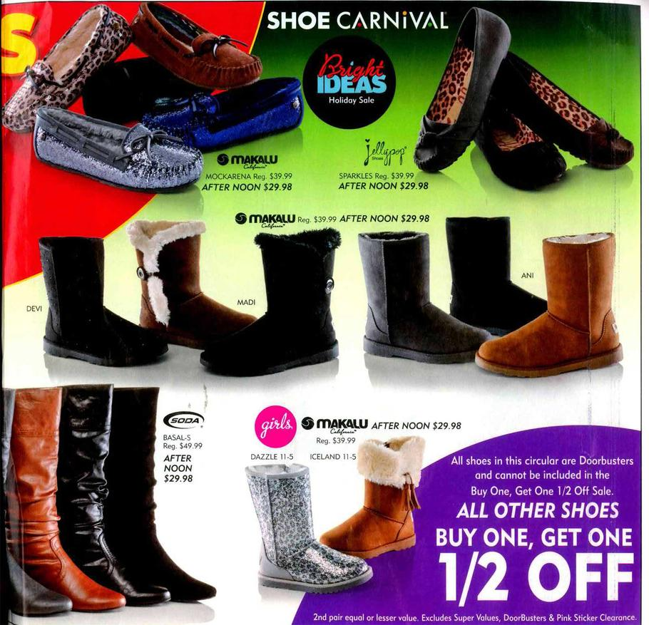 off of your purchase of .98 at Shoe Carnival Online