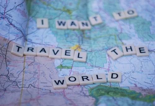 Round the world, around the world,