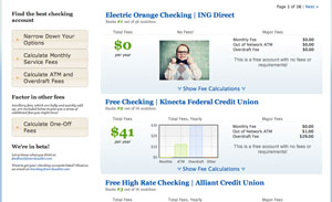 Post image for NerdWallet Launches Checking Account Comparison Tool