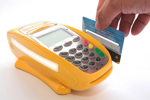 Debit card swipe pos terminal