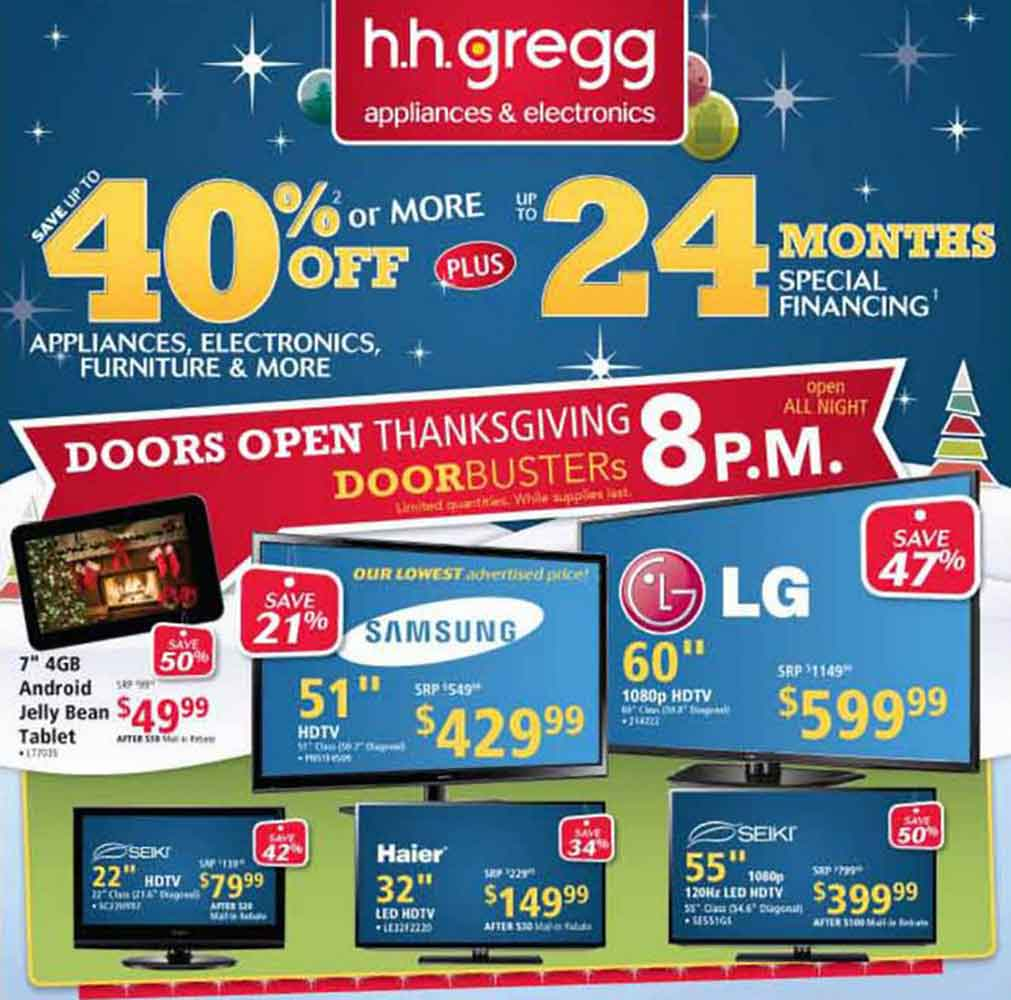 H H Gregg Black Friday 2013 Ad Find the Best H H Gregg