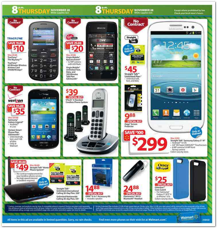 Walmart cell phone deals black friday