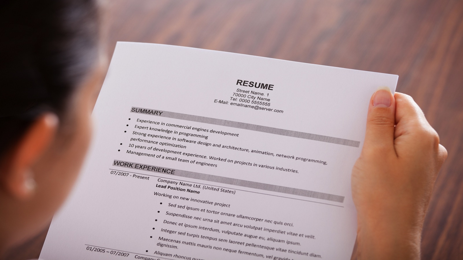 Build resume net temps