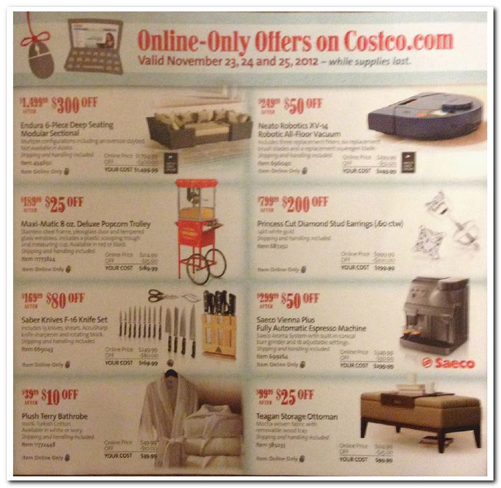 Shop Costco Online Store: Costco Black Friday Ad Posted With In-Store And Online