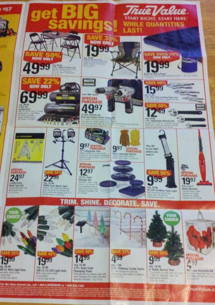 True Value Black Friday Ad Scan 2012 Edition Is Here