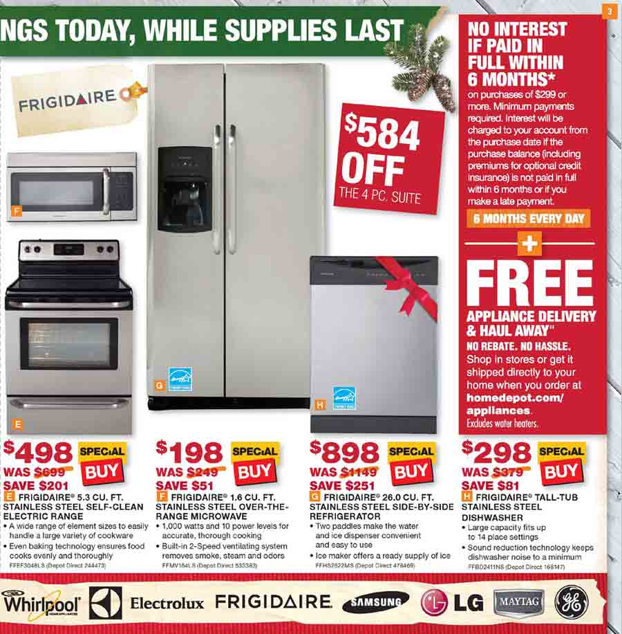 Awesome Home Depot Appliances Sale Download Free Architecture Designs Intelgarnamadebymaigaardcom