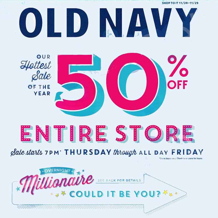 Old Navy Million Dollar Giveaway Thanksgiving 2019