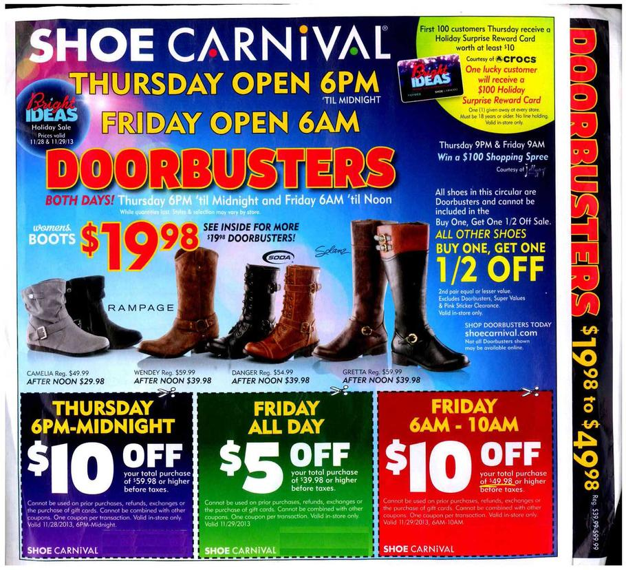 Coupon For Shoe Carnival Black Friday