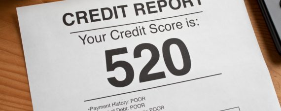 Credit report with low score
