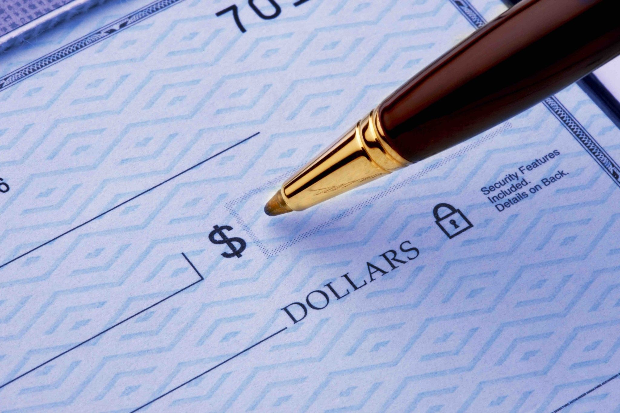 Writing a check to a lender