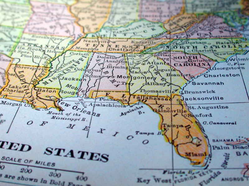 Great Banks And Credit Unions In The Southeast NerdWallet - Map of chase bank locations in us