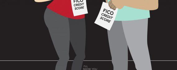 Comparing credit scores