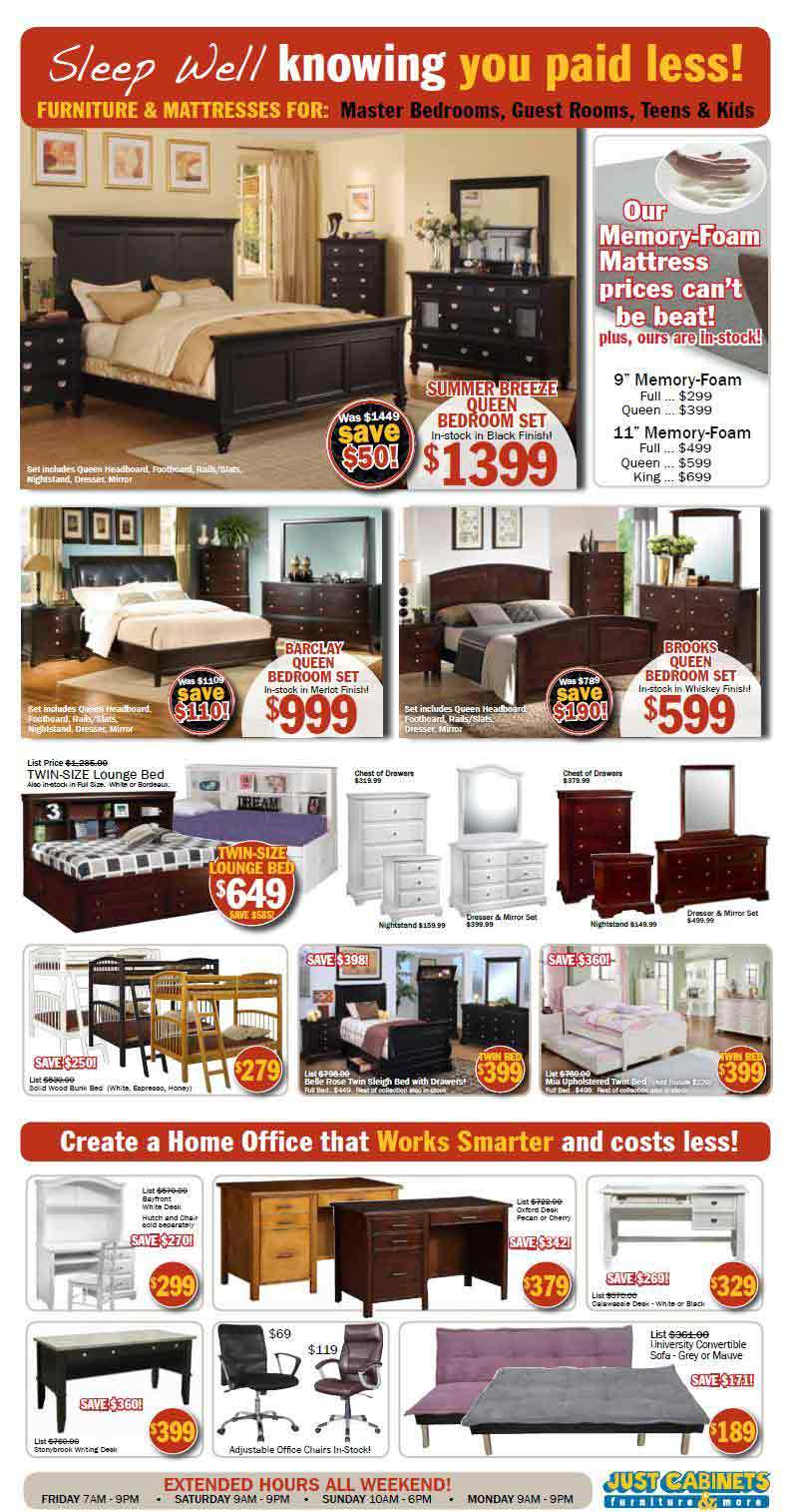 Just Cabinets Furniture Black Friday 2013 Ad - Find the ...