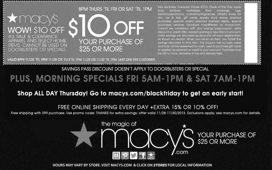 Macy S Black Friday 2013 Ad Find The Best Macy S Black