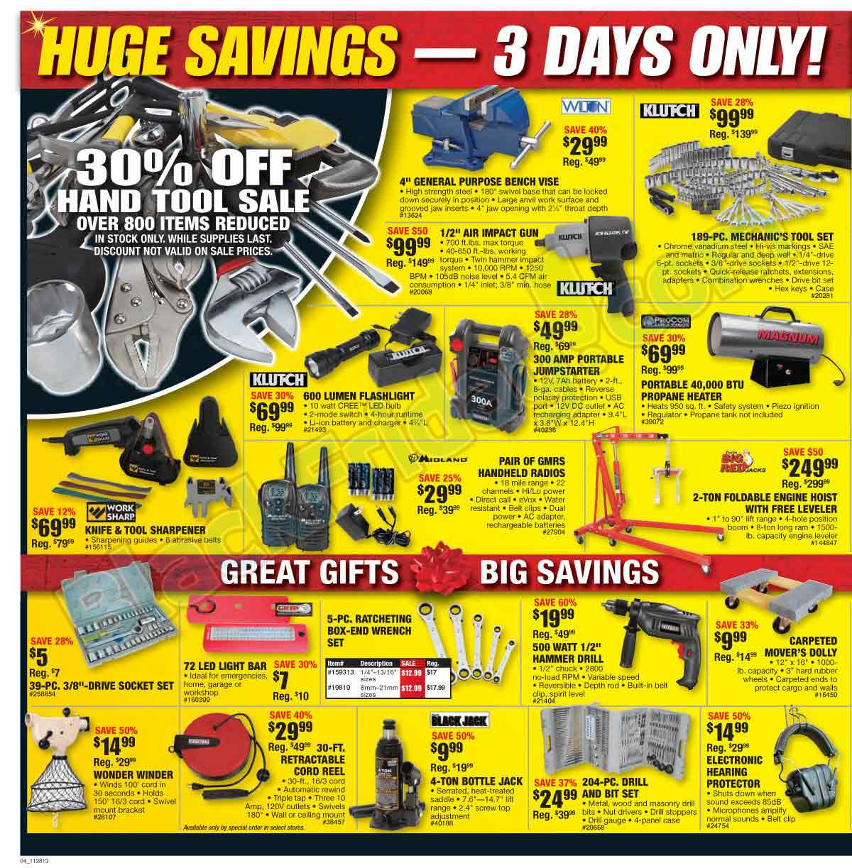 picture relating to Northern Tool Coupons Printable called Www.northern resources : Hotline lodges