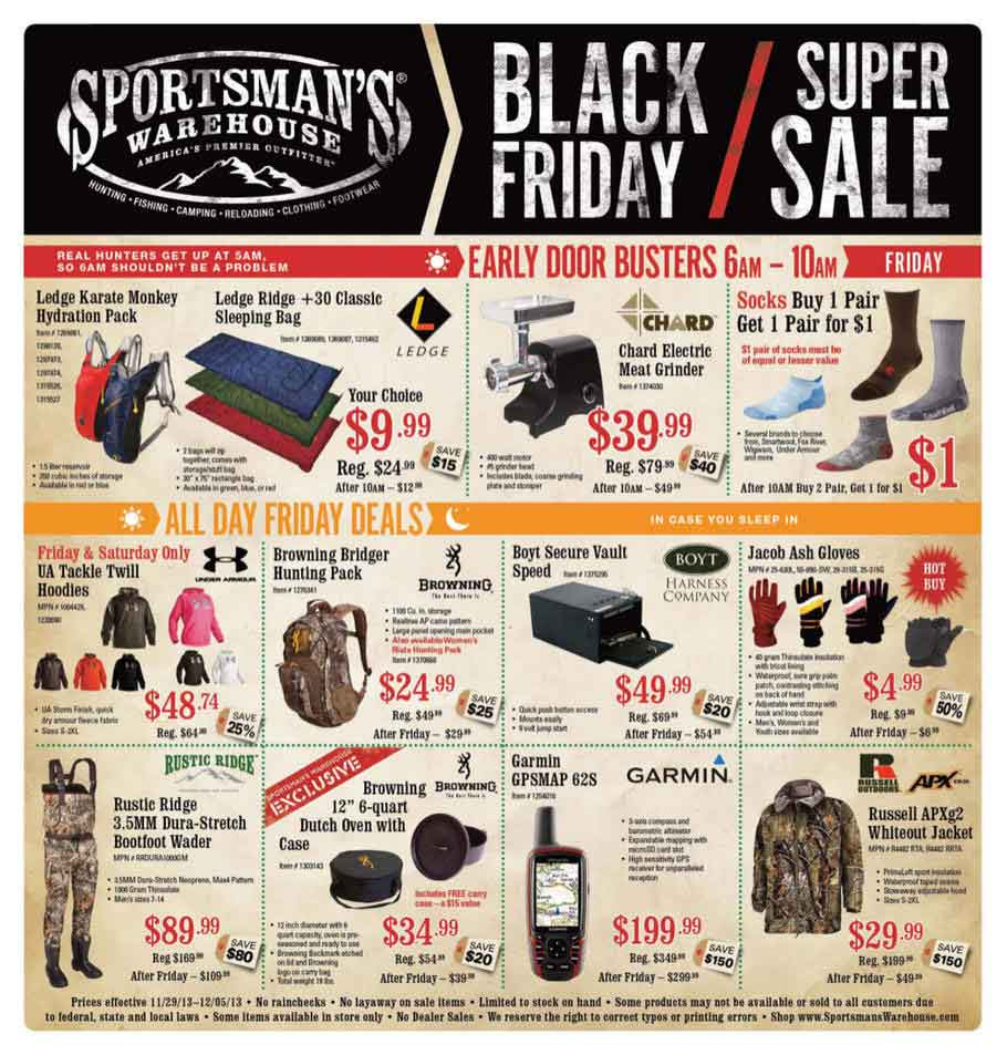 Sportsman 39 s warehouse black friday 2013 ad find the best for Black friday fishing deals