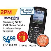 Tiger Direct TracFone Samsung S150G Cell Phone Bundle