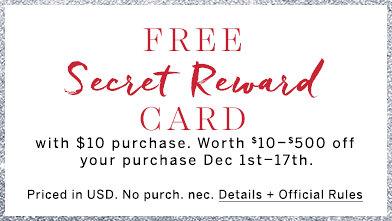 Free Secret Reward Card Promotion is Back at Victoria's Secret