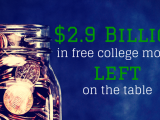 2.9B FAFSA College Money Left On Table