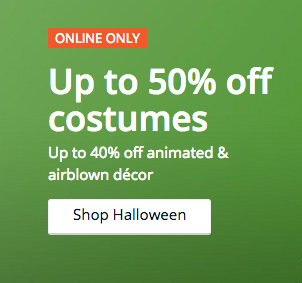 Halloween Costumes and Decorations on Sale at Kmart