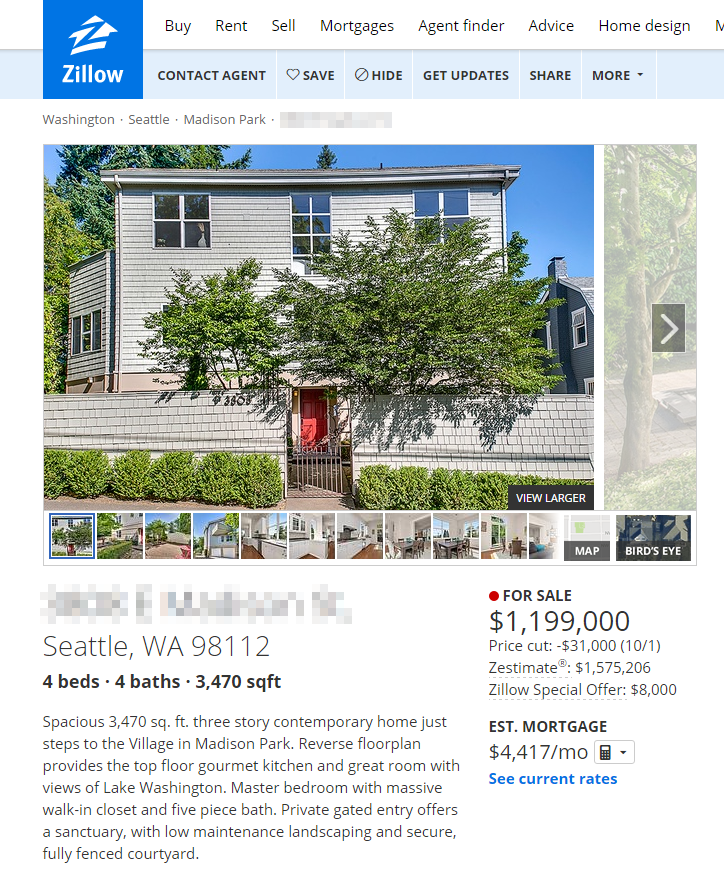 Zillows Homes: Putting Zillow Zestimates' Accuracy To The Test