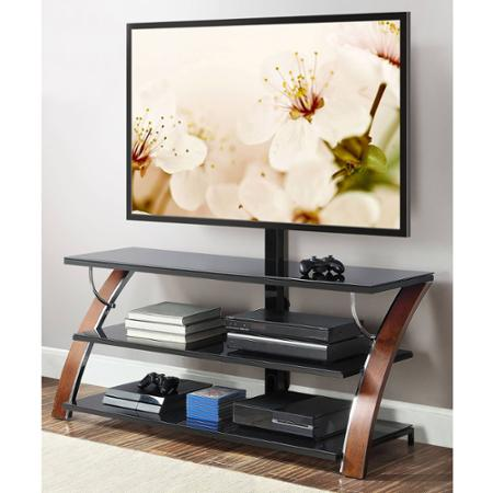 save 80 on whalen brown flat panel tv stand at wal mart nerdwallet. Black Bedroom Furniture Sets. Home Design Ideas