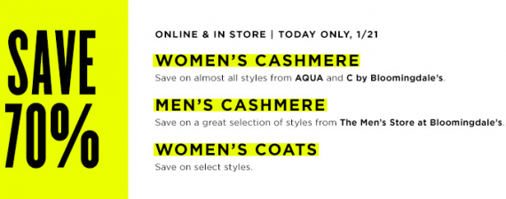 Save 70% on Cashmere Sweaters at Bloomingdale's - NerdWallet