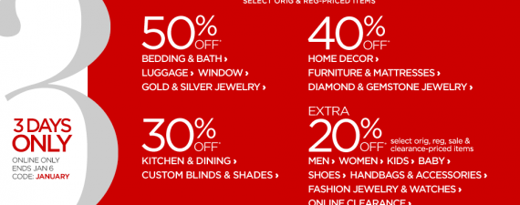 January Sale at J.C. Penney
