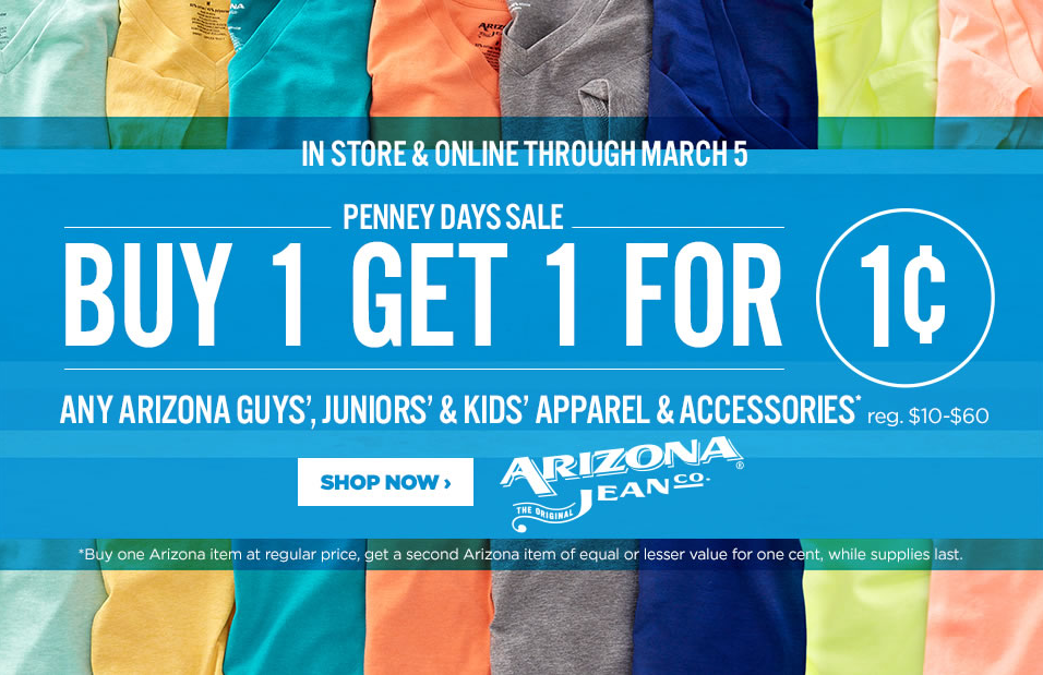 Buy One Get One For A Penny At J C Penney Nerdwallet