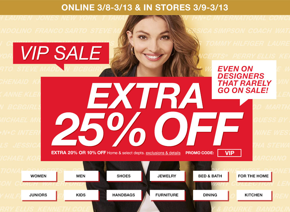 Vip Sale At Macy S Take An Extra 25 Off Designer Items