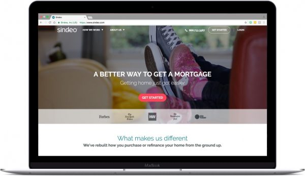 Sindeo Home-page