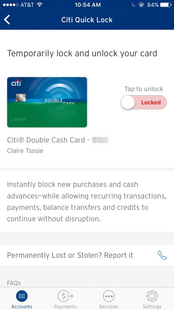 Citicards Account Online >> Lost a Citi Credit Card? Lock It Until You Find It ...
