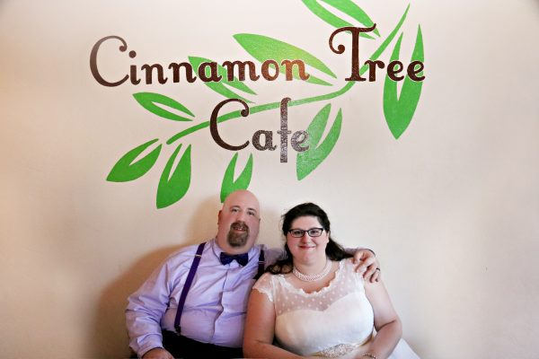 Matthew and Brittany held their reception at the coffee shop where they had their third date. Cost for the venue, 30 guests, on-site food and drink: $770.