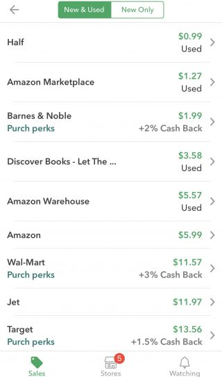 We tested ShopSavvy by scanning the barcode on a book. Here are the price results.