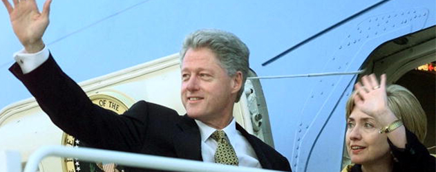 Air Force One President Bill Clinton